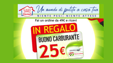 Casa Henkel: in regalo 25€ in buoni carburante