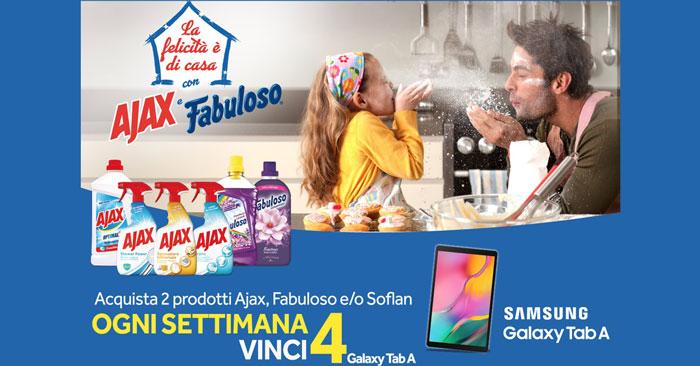 Concorso Ajax e Fabuloso: vinci Samsung Galaxy TAB A