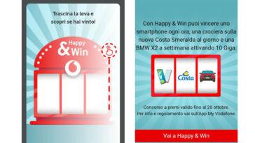"""Concorso Vodafone """"Happy & Win"""""""
