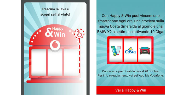 "Concorso Vodafone ""Happy & Win"""
