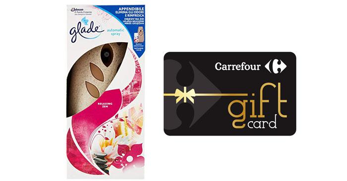 Glade: vinci una spesa da Carrefour