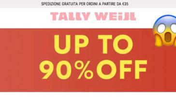 Tally Weijl: saldi fino al 90%