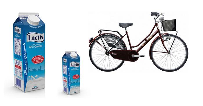 "Vinci biciclette Doniselli con ""I love Berghem"""