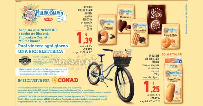 Vinci biciclette elettriche Mulino Bianco