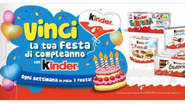 Vinci la tua festa di compleanno Kinder