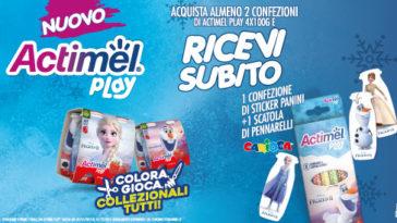 Actimel Play ti regala pennarelli Carioca
