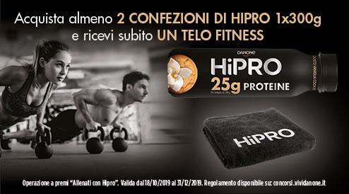 Allenati con HiPro e ricevi un telo fitness