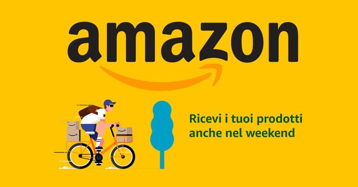 Amazon consegne sabato domenica