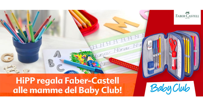 BabyClub HiPP: registrati e vinci Faber Castell