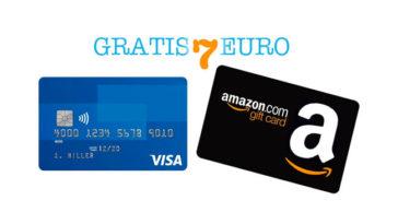 Carta Visa: buono sconto Amazon 7€ gratis!