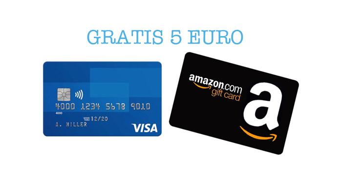 Carta Visa: buono sconto Amazon