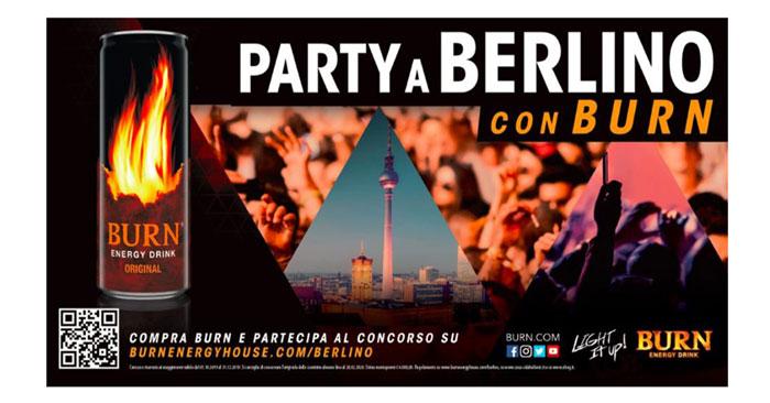 Con Burn vinci viaggio a Berlino