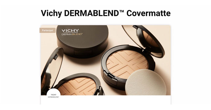 Diventa tester Vichy DERMABLEND™ Covermatte
