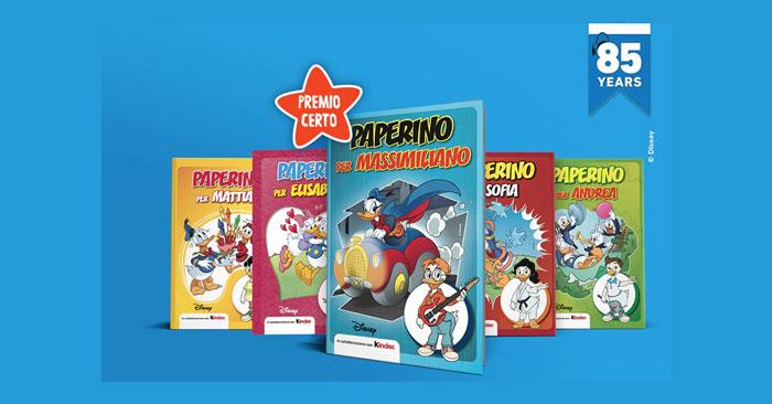 Kinder ti regala i fumetti Disney di Paperino