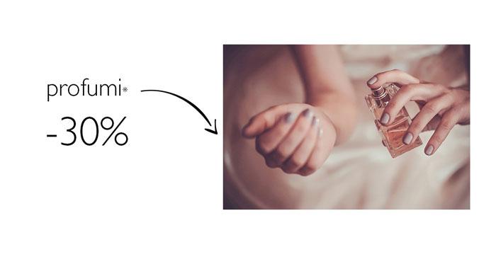 Profumeria Sabbioni: 30% di sconto sui profumi!