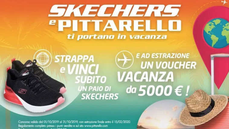 Skechers e Pittarello ti portano in vacanza