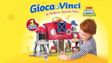 """Vinci la fattoria """"Animali felici"""" con Pampers"""
