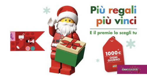 "Lego: ""Più regali, più vinci"". Vinci buoni da 1.000€!"