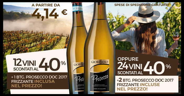 Giordano Vini sconti al 40%