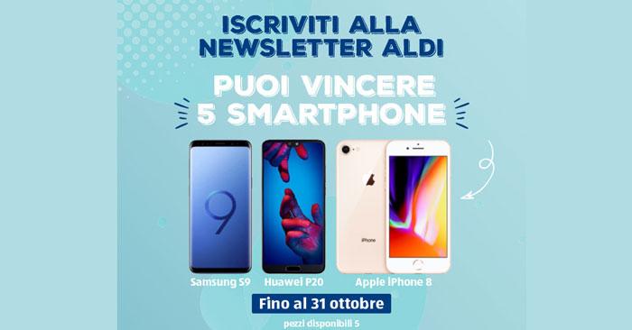 Aldi: vinci gratis 5 smarphone