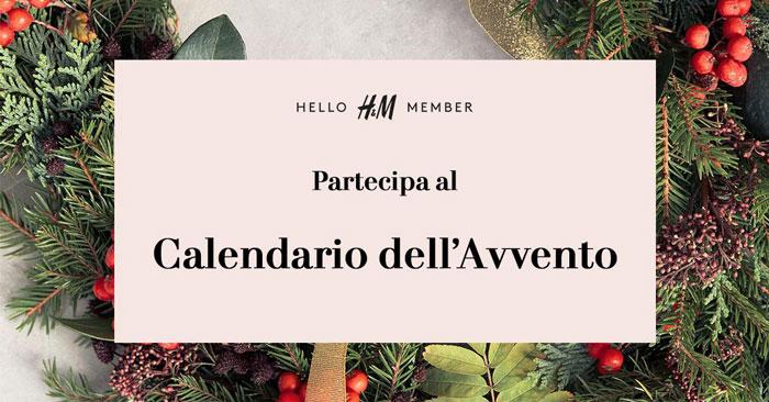 Calendario Avvento H&M con premi