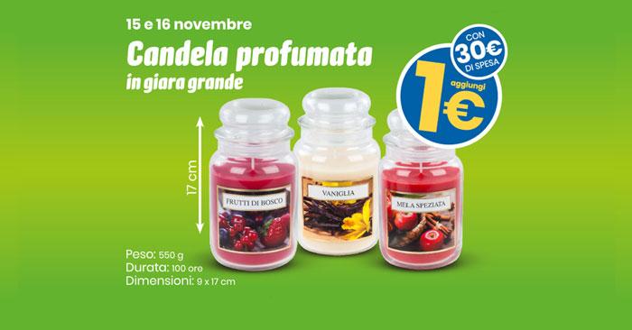 Eurospin: candela profumata grande a 1€!