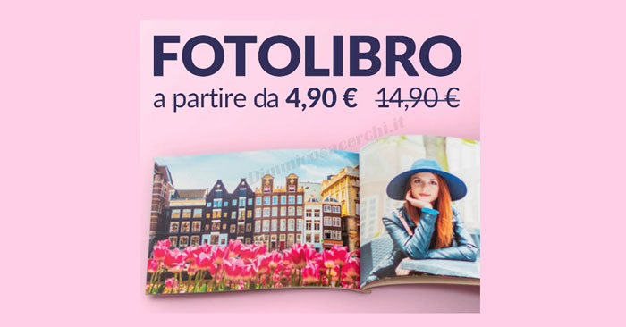 Fotolibro personalizzato da 4,90€
