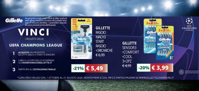Gillette: vinci biglietti Champions League