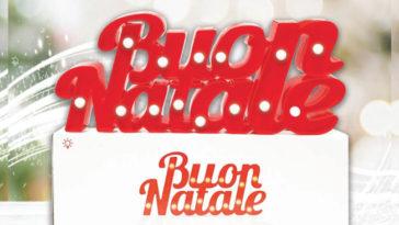 """Lampada Led """"Buon Natale da Acqua&Sapone"""