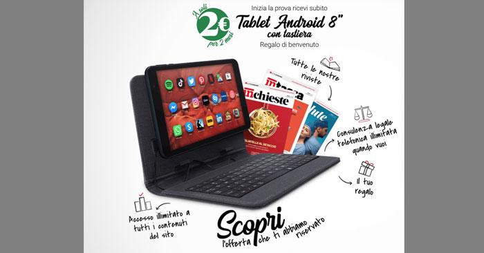 Prova Altroconsumo a 2€ e ricevi un tablet Android con tastiera