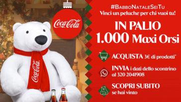 Vinci un peluche gigante con Coca-Cola