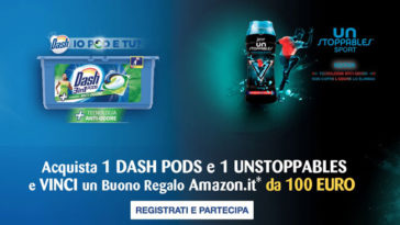 Vinci buoni Amazon con Dash Pods e Unstoppables