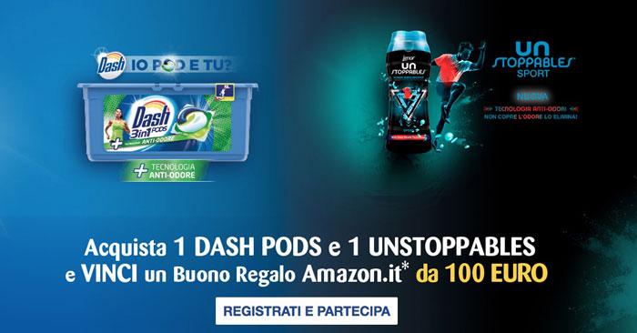 Vinci buoni Amazon con Dash Pods e Unstoppables