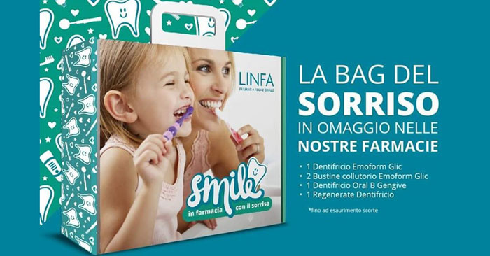 Linfa farmacie: in omaggio Bag del Sorriso