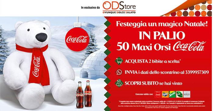 ODStore: vinci maxi orsi Coca‑Cola