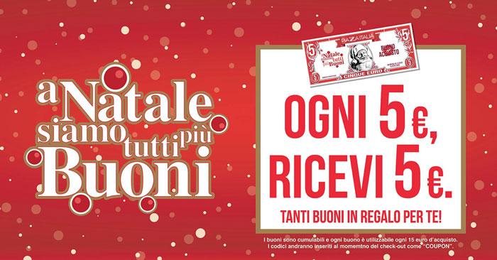 Piazza Italia: ogni 5€ ricevi 5€ (A Natale siamo tutti più buoni)
