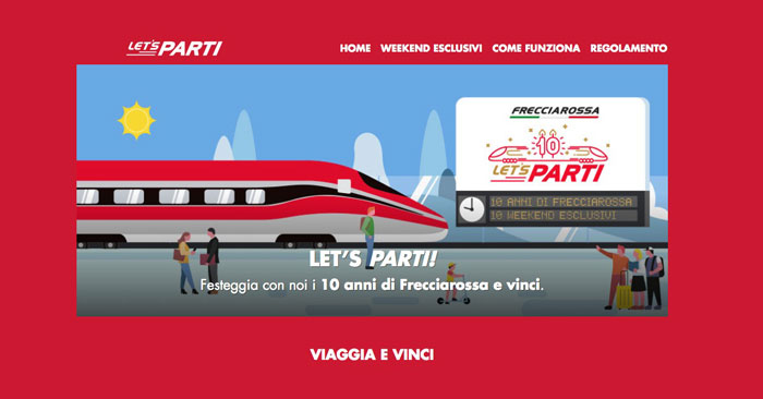 "Trenitalia ""Let's Party"": in palio 10.158 premi"
