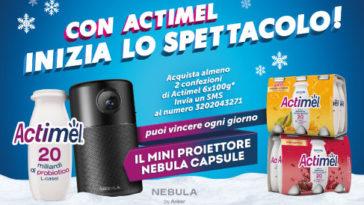 Actimel: vinci mini proiettore Nebula Capsule