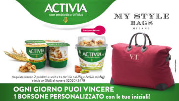 Activia: vinci borsone MY STYLE BAGS