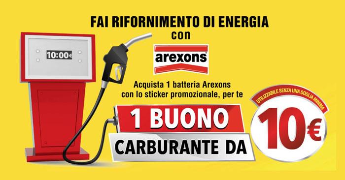 Arexons ti regala un buono carburante