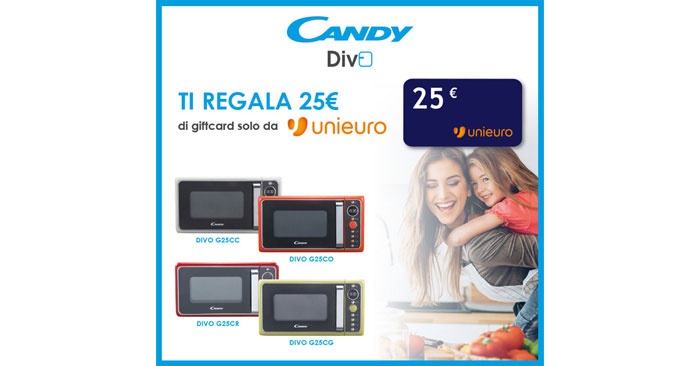 Candy ti regala gift card Unieuro