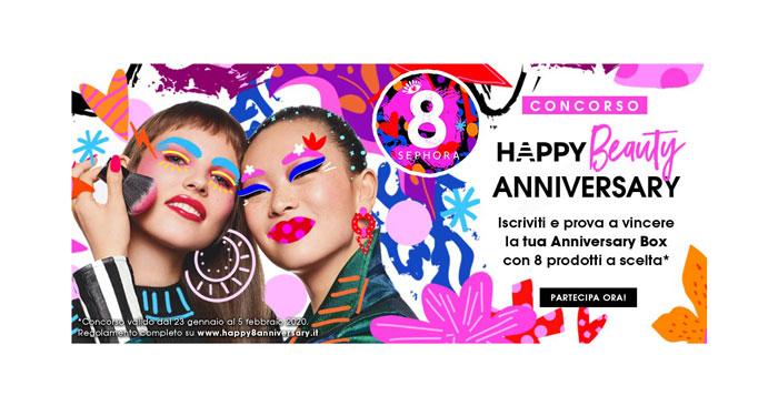 "Concorso Sephora ""Happy Beauty Anniversary"""