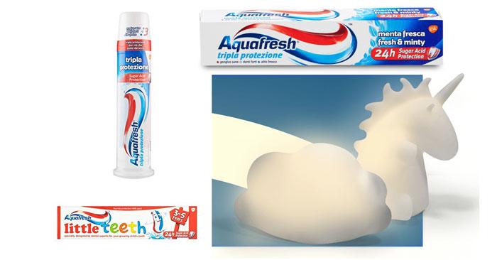 Lampada unicorno o nuvoletta in regalo con Aquafresh