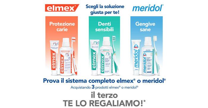 Prova il sistema completo elmex® o meridol®