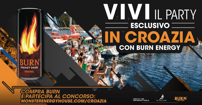 Vai in Croazia con Burn