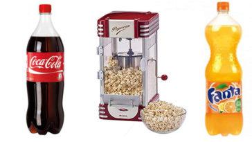 """Vinci """"Pop Corn Machine"""" con Coca-Cola"""
