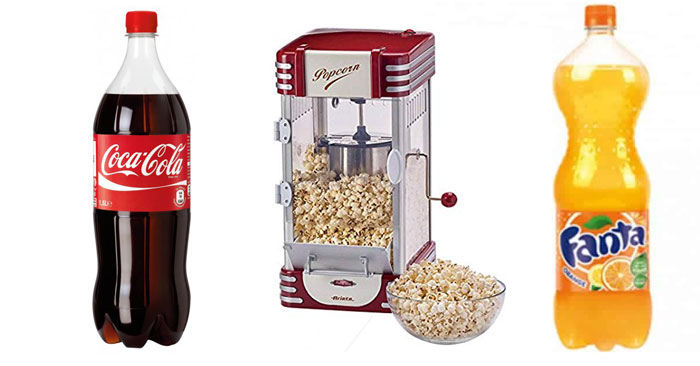"Vinci ""Pop Corn Machine"" con Coca-Cola"