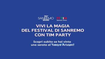 Vivi la magia di SanRemo con Tim Party