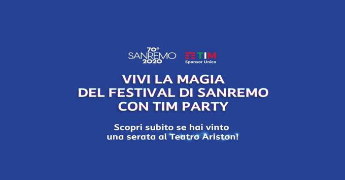 Vivi la magia di SanRemo con Tim Party