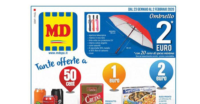 MD supermercati: ombrello per i clienti